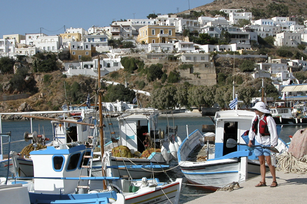 Blue & white colors in Greece with Crossing Latitudes
