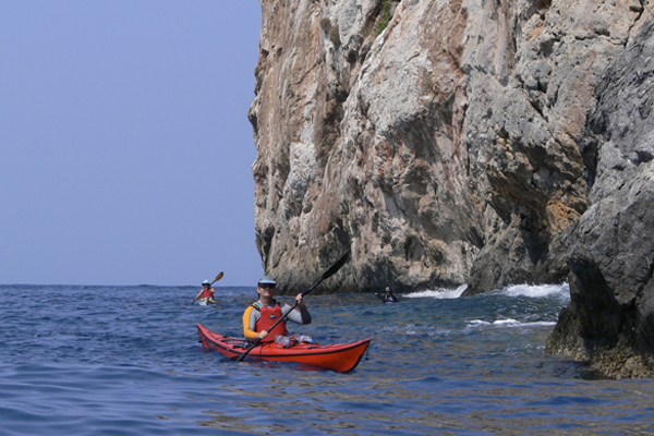 Steep cliffs in Greece with Crossing Latitudes