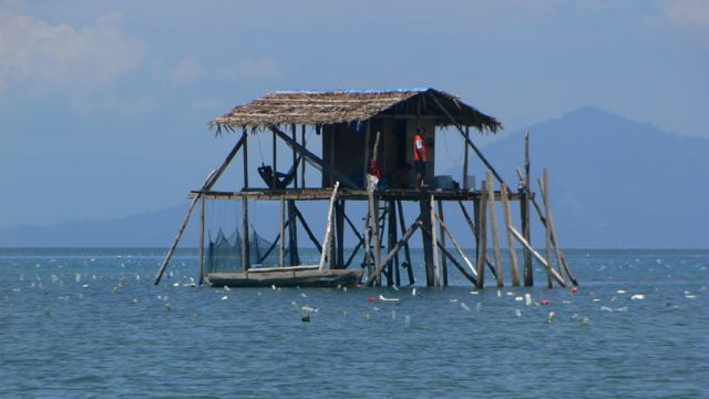 Sea Weed farming hut.