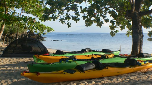 Tahe Marine Sea Kayaks in Indonesia.