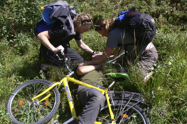 Bike crash WMI scenarios on a WMI course with Crossing Latitudes